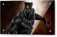 Black Panther Collection Acrylic Print by Marvin Blaine