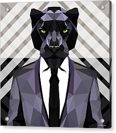Black Panther Acrylic Print by Gallini Design