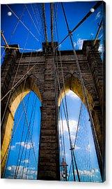Brooklyn Bridge Acrylic Print by Patrick  Flynn