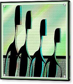 Brothers Acrylic Print by Iris Gelbart