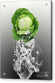 Cabbage Splash Acrylic Print by Marvin Blaine
