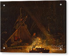 Camp Fire Acrylic Print by Winslow Homer