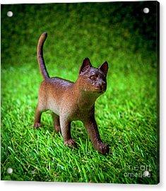 Cat Figurine Acrylic Print