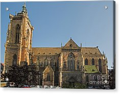 Cathedral Of Saint Martin In Colmar Acrylic Print by Yefim Bam