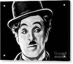 Charlie Chaplin Collection Acrylic Print by Marvin Blaine