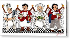 4 Chefs Acrylic Print by John Keaton