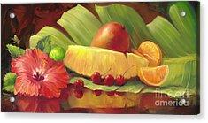 4 Cherries Acrylic Print by Laurie Hein