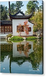 Chinese Garden At The Huntington Library. Acrylic Print by Jamie Pham