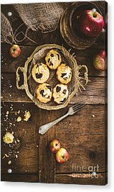 Chocolate Chips And Almond Muffins Acrylic Print by Mythja Photography