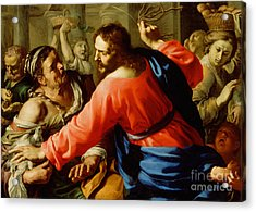 Christ Cleansing The Temple Acrylic Print