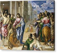 Christ Healing The Blind Acrylic Print