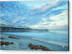 Cloud Cover Over Crystal Pier Acrylic Print