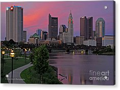D2l37 Columbus Ohio Skyline Photo Acrylic Print