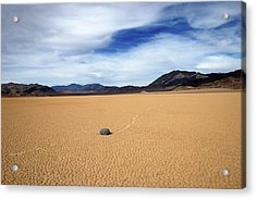 Acrylic Print featuring the photograph Death Valley Racetrack by Breck Bartholomew