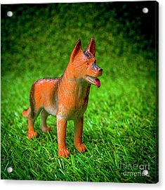 Dog Figurine Acrylic Print