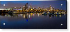 Downtown Chicago From Burnham Harbor Acrylic Print by Twenty Two North Photography