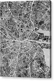 Dublin Ireland City Map Acrylic Print