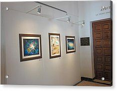 Exhibition Cozumel Museum Acrylic Print by Angel Ortiz