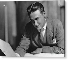 F. Scott Fitzgerald Acrylic Print by Granger