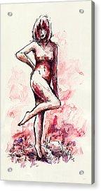 Figure Study Acrylic Print by Rachel Christine Nowicki