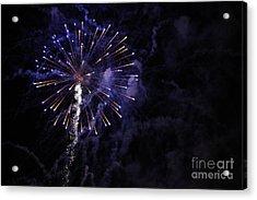 Fireworks Acrylic Print by Diane Falk
