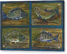 4 Fishes Acrylic Print