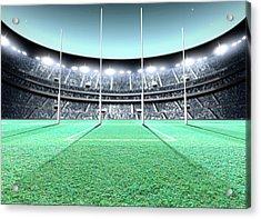 Floodlit Stadium Night Acrylic Print