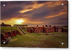 Acrylic Print featuring the photograph Fort Clinch by Peter Lakomy