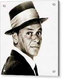 Frank Sinatra, Vintage Hollywood Legend Acrylic Print