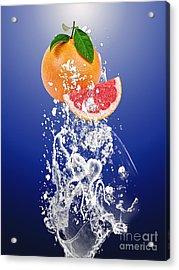 Grapefruit Splash Acrylic Print