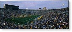High Angle View Of A Football Stadium Acrylic Print
