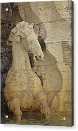 Horse In Fountain  Acrylic Print by JAMART Photography