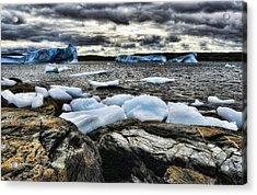 Icebergs At St. Anthony Acrylic Print