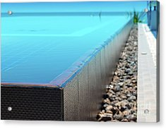 Acrylic Print featuring the photograph Infinity Pool by Atiketta Sangasaeng