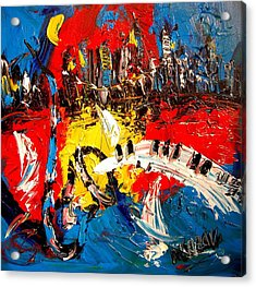 Jazz Acrylic Print by Mark Kazav