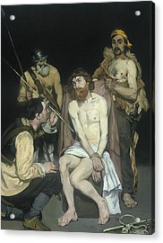 Jesus Mocked By The Soldiers Acrylic Print