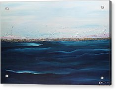 Acrylic Print featuring the painting Jewels Of The Sea by Dolores  Deal