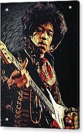 Jimi Hendrix Acrylic Print by Taylan Apukovska
