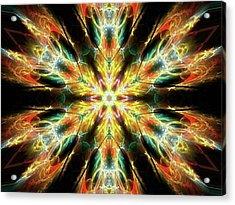 #kaleidoscope #mandala #art #digitalart Acrylic Print by Michal Dunaj