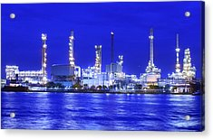 Landscape Of River And Oil Refinery Factory  Acrylic Print