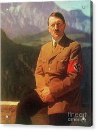 Leaders Of Wwii - Adolf Hitler Acrylic Print by John Springfield