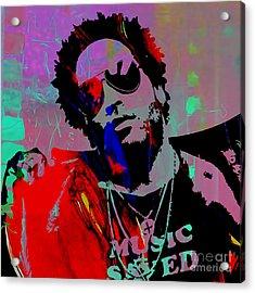 Lenny Kravitz Collection Acrylic Print by Marvin Blaine