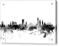 Liege Belgium Skyline Acrylic Print by Michael Tompsett