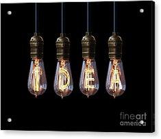 Light Bulb Background Acrylic Print by Setsiri Silapasuwanchai