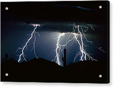 4 Lightning Bolts Fine Art Photography Print Acrylic Print by James BO  Insogna