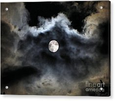 Lisas Wildlife Moons 2 Acrylic Print by September  Stone