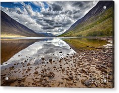 Loch Etive Acrylic Print by Nichola Denny