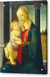 Madonna And Child Acrylic Print by Sandro Botticelli