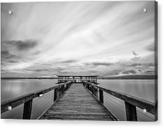Melbourne Beach Pier Sunset Acrylic Print
