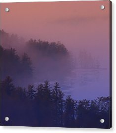 Melvin Bay Fog Acrylic Print